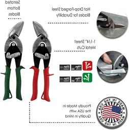 MIDWEST Aviation Snip Set - Left and Right Cut Offset Tin Cu