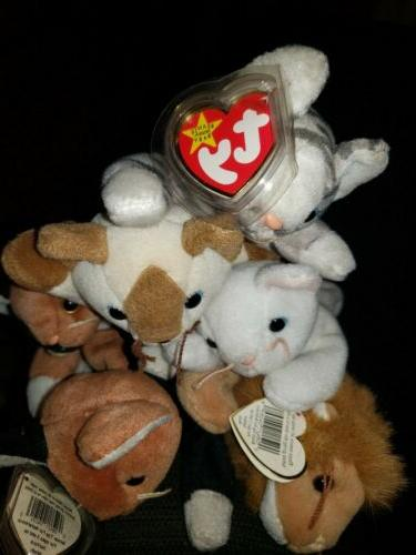 retired beanie babies lot of 6 cats