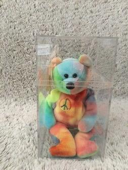TY Retired Beanie Baby PEACE Bear Unique Colors with Tags 19