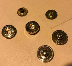 Two Round Gold Tone Fendi Snap Buttons