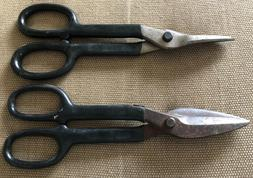 """Vintage Craftsman 10"""" Duck Bill Tin Snips 45461 and Straight"""
