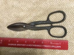 """Vintage Antique 7"""" Crescent Tool Co. No. S47 Tin Snips mad"""